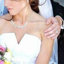"Couture Bridal Veil with 1/2"" Satin Trim"